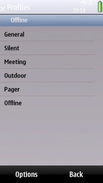 Nokia T7 Profile Settings