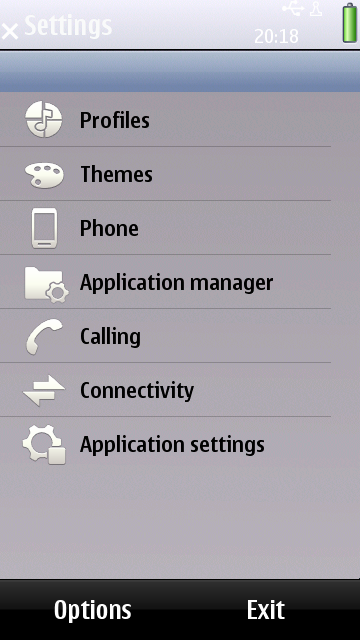 Nokia T7 Settings