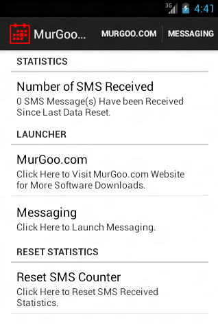 SMS Counter for Android